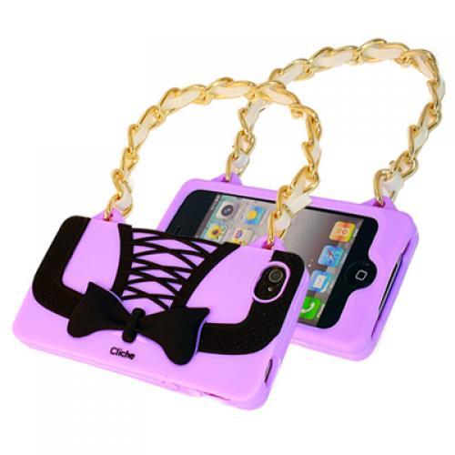 tpu silikon case apple iphone 4 4s lila schwarz schleife handy tasche handtasche ebay. Black Bedroom Furniture Sets. Home Design Ideas