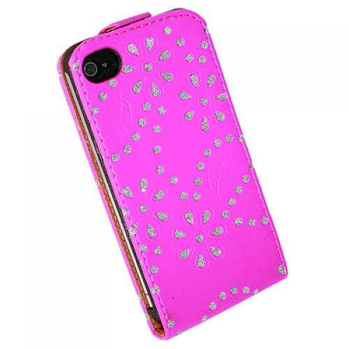 Apple iPhone 4 4S 4G Flipstyle Hartschale Glitzer