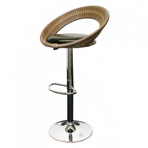 2x barhocker barsessel barstuhl hocker bar dreh stuhl rattan lehne schwarz braun ebay. Black Bedroom Furniture Sets. Home Design Ideas