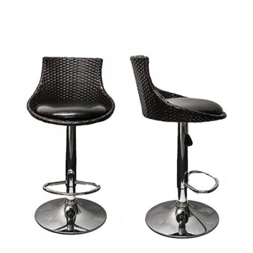 2x barhocker barsessel barstuhl hocker bar drehstuhl lounge rattan schwarz braun ebay. Black Bedroom Furniture Sets. Home Design Ideas