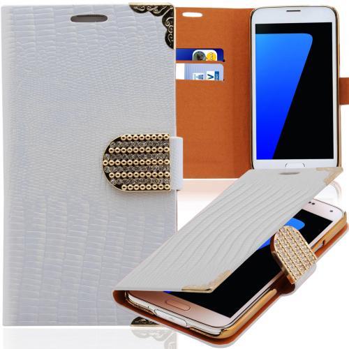 Strass-Handy-Tasche-Book-Style-Schutz-Huelle-Klapp-Etui-Flip-Cover-Schale-Case