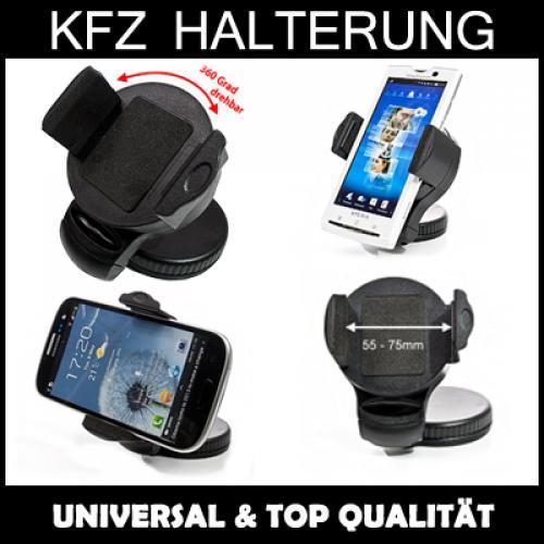 universal kfz handy halterung auto halter mit saugfu und saugnapf car holder ebay. Black Bedroom Furniture Sets. Home Design Ideas