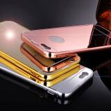 Apple IPhone 6 6s Plus Metall Spiegel Bumper - Dunkelgrau