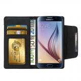 Samsung Galaxy S6 Edge Plus Numia Bookstyle - Weiss-Schwarz