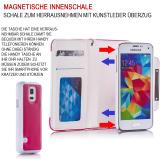 Samsung Galaxy S7 SM-G930 Numia Bookstyle 2in1 - Pink-Weiss