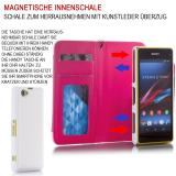 Samsung Galaxy S7 SM-G930 Numia Bookstyle 2in1 - Weiss-Rosa
