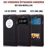 Samsung Galaxy S7 edge SM-G935 Numia Bookstyle Fenster - Schwarz
