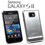 Samsung Galaxy S2 (i9100) Alucase (Galaxy SII Schriftzug) - Silb