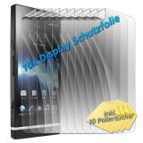 Sony Xperia Tipo (ST21i) 10x Displayschutzfolie - Glare (Glänzen