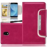 Samsung Galaxy J5 2017 Numia Bookstyle - Pink-Weiss