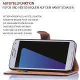 Samsung Galaxy Note 4 SM-N910F Bookstyle Aufstellfunktion - Pink