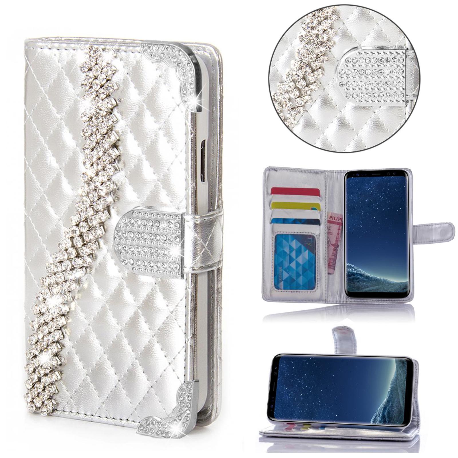 Strass-Glitzer-Handy-Tasche-Schutz-Huelle-Flip-Cover-Book-Style-Case-Etui-K917
