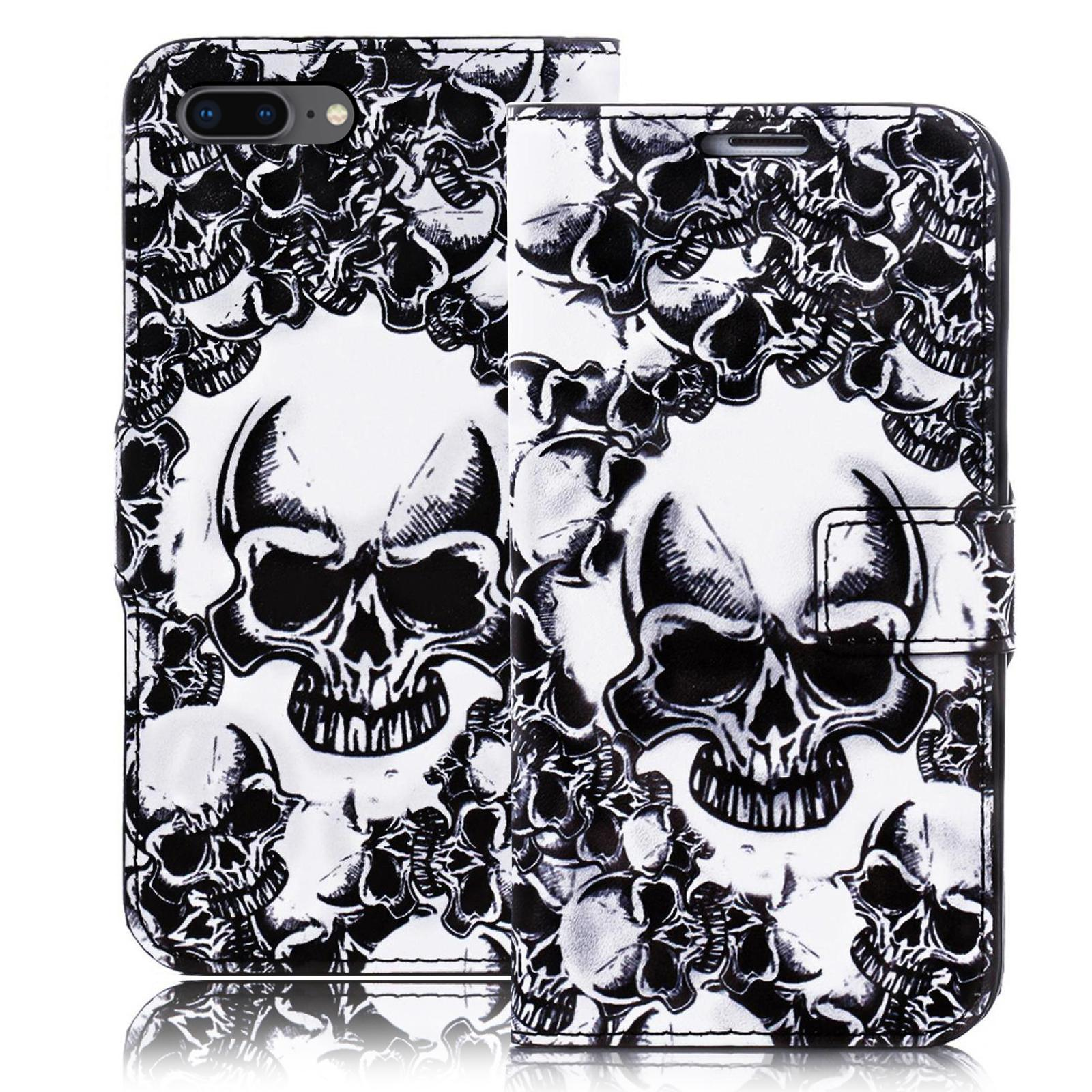skull style totenkopf design handy tasche schutz h lle book cover flip case etui ebay. Black Bedroom Furniture Sets. Home Design Ideas